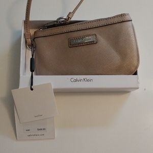 Calvin Klein Wristlet (Faux Leather) Golden colour